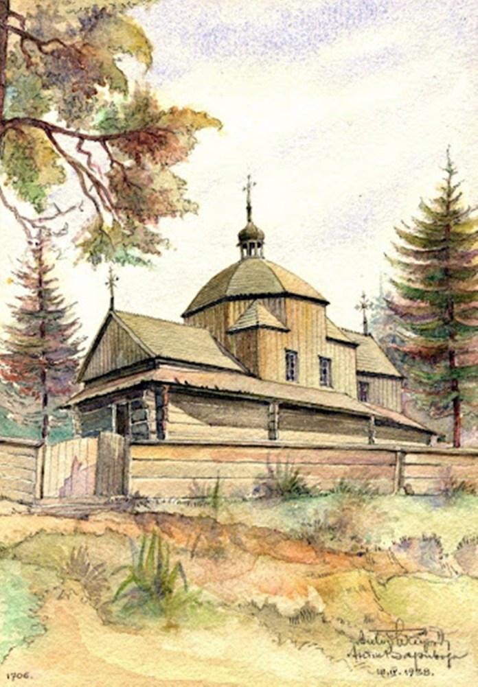 Церква у с.Вовків (1706р)