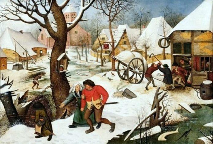 Пітер Брейгель Молодший. Бійка селян, 1623 рік. Зображення з Вікіпедії
