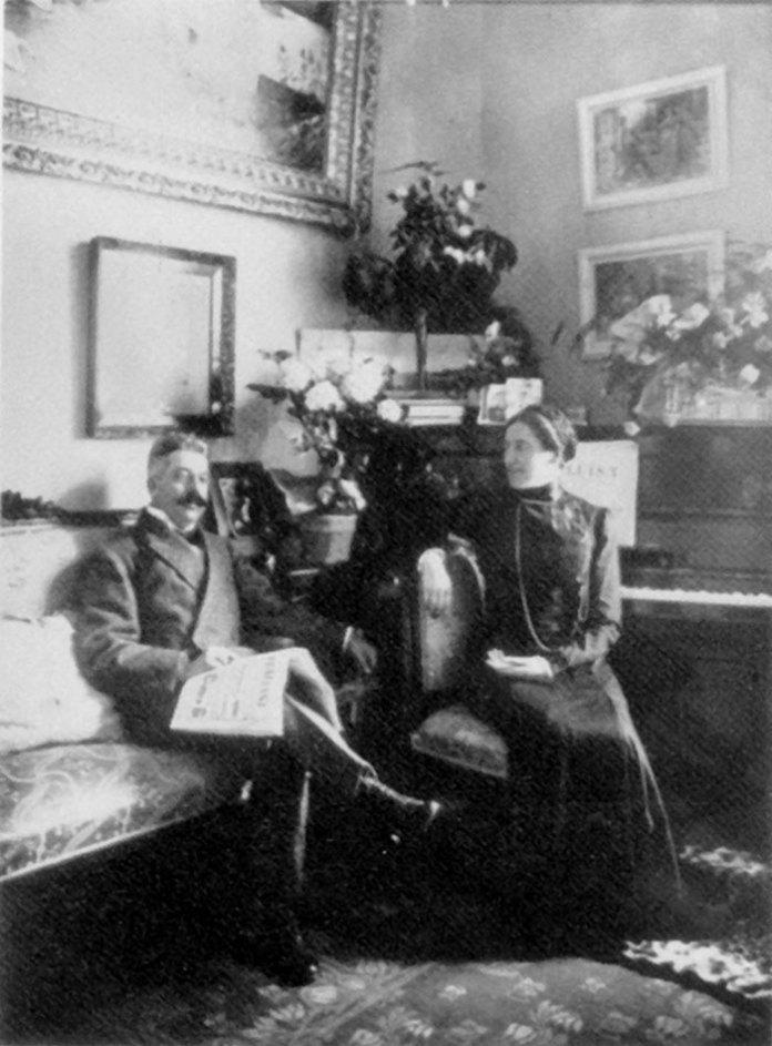 Соломія Крушельницька і Чезаре Річчоні після одруження. Буенос-Айрес, 1910р.