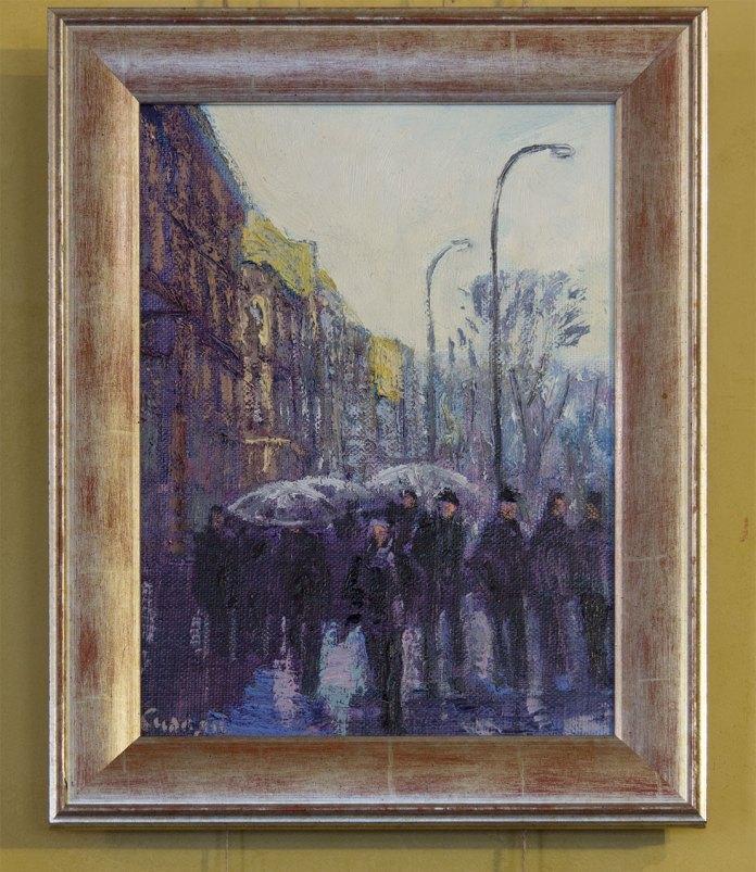 """Експозиція виставки живопису Петра Сипняка """"Світло і тіні літнього міста"""""""