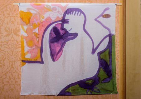 Експозиція витавки львівської художниці Лесі Квик «Між доброднями супервечори»