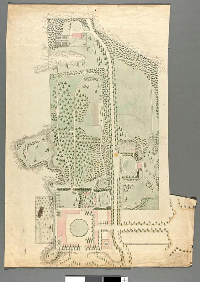 Планування території 1800 року Яна Грізмеєра. Зображення з Національного музею у Варшаві
