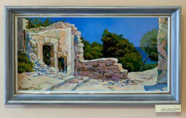 Експозиція виставки Романа Венчака «Споглядаючи пейзаж»