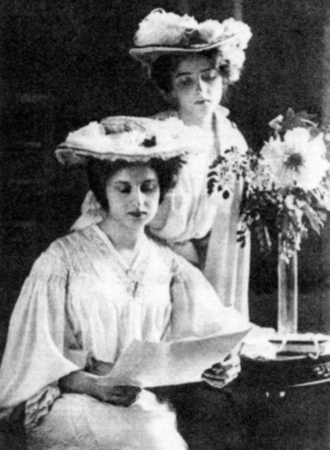 Доньки Щепановського Флора і Елеонора були присутні в залі суду під час оголошення вироку. Фото 1909 року