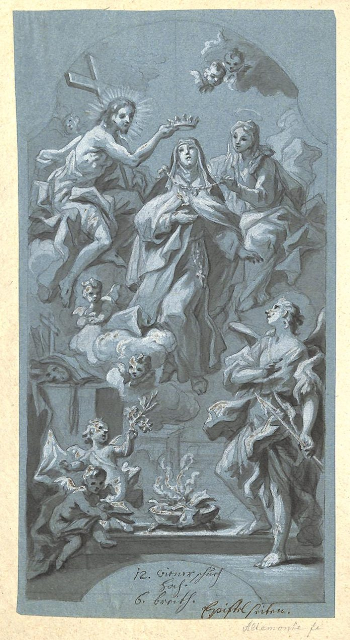 Bartolomeo Altomonte. Апофеоз святої Терези