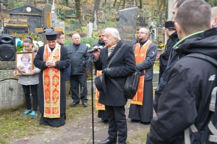 Похорон Лариси Крушельницької 14 листопада 2017 року на Личаківському цвинтарі у Львові