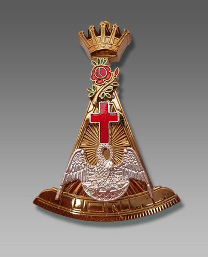 Емблема розенкрейцерів ( сучасний орден лицаря рози і хреста)