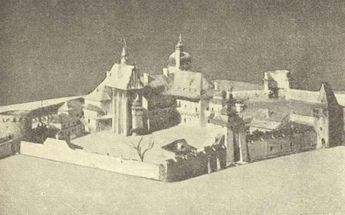 Низький замок на пластичній панорамі Львова Я. Вітвіцького