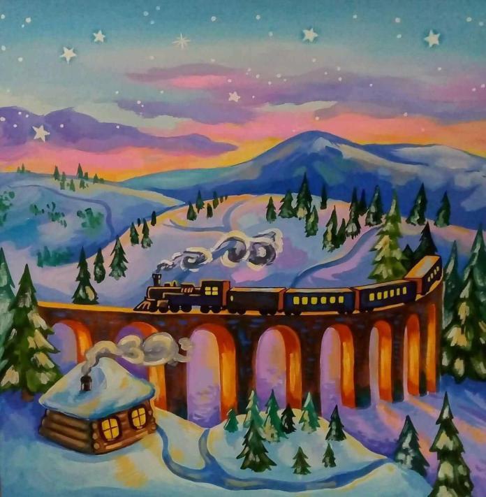 """Ілюстрація до збірки казок Лесі Кічури """"Добрі мамині казки. Магія Різдва"""""""