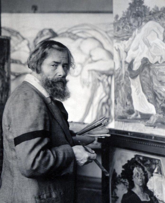 Олекса Новаківський у майстерні. 1920-ті рр.