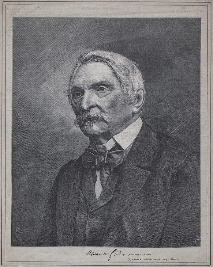 Александр Фредро. Опубліковано у часописі «Kłosy» (1868).