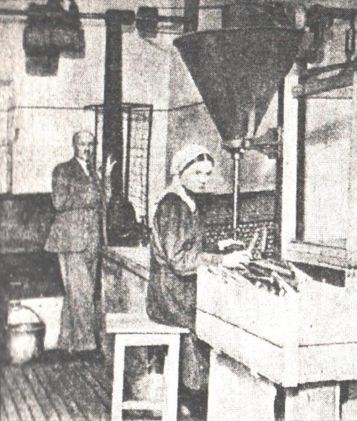"""У цеху фабрики """"Луна"""" у Львові. Наповнення трубок цикорієм, 1934 р."""