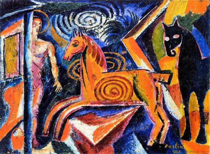 Давид Бурлюк. Карусель. 1928