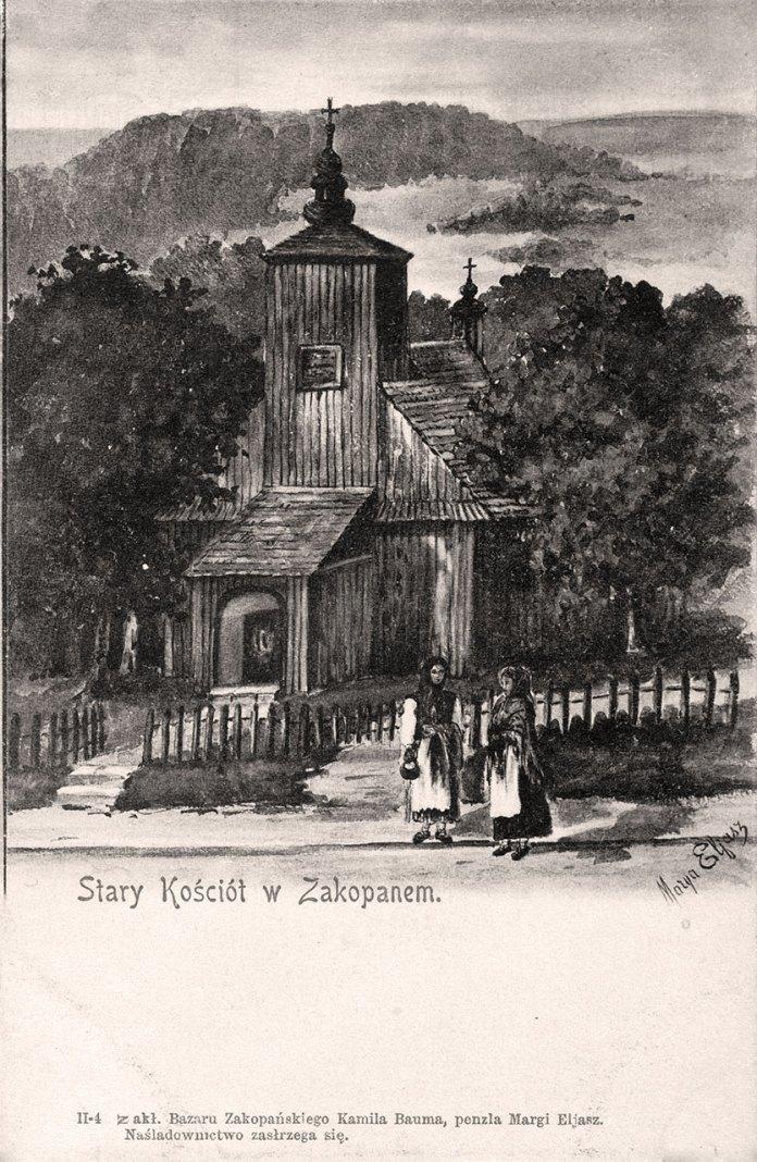 Старий костел у Закопаному. Джерело: Polona.pl