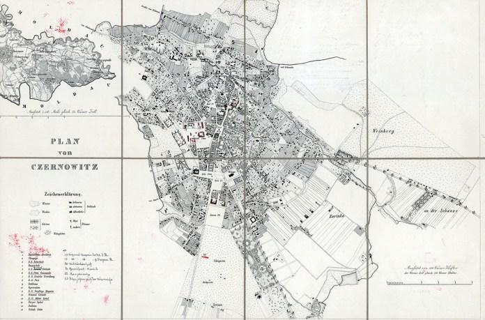 План міста Чернівці в кінці ХIХ століття