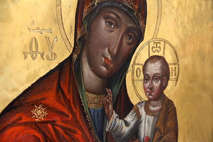 """Ікона """"Богородиця з дитям"""" (1635)"""
