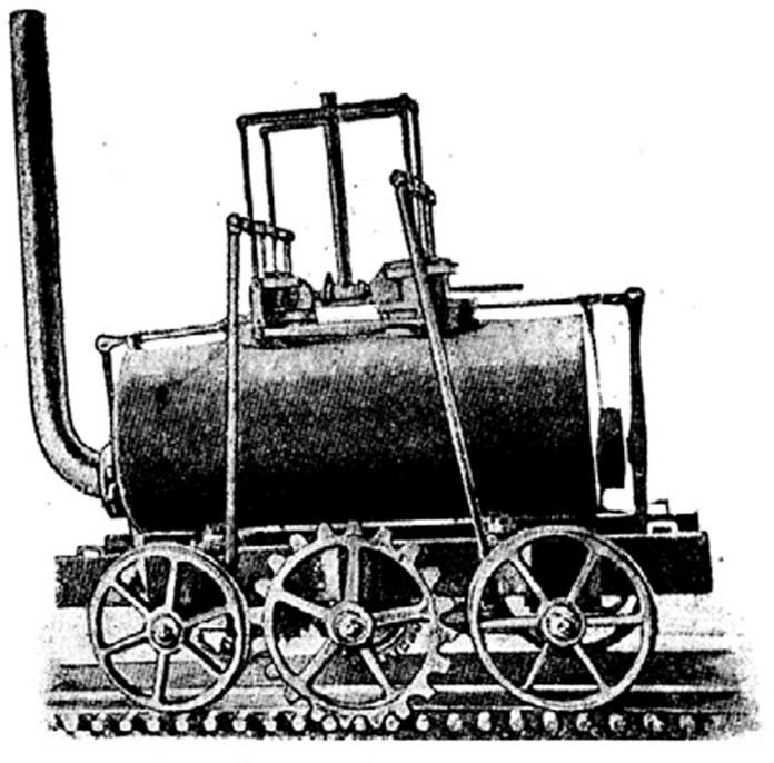Перший паровоз Тревітіка. 1803 р.