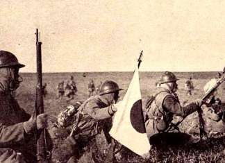 Японська піхота в маньчжурських степах, 1931 рік