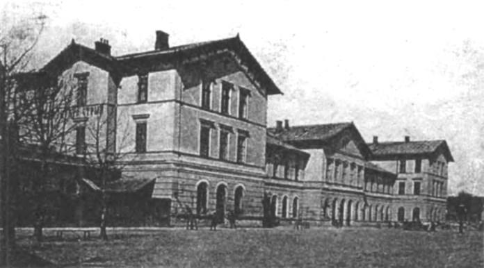 Вокзал у Стрию. Стара поштівка
