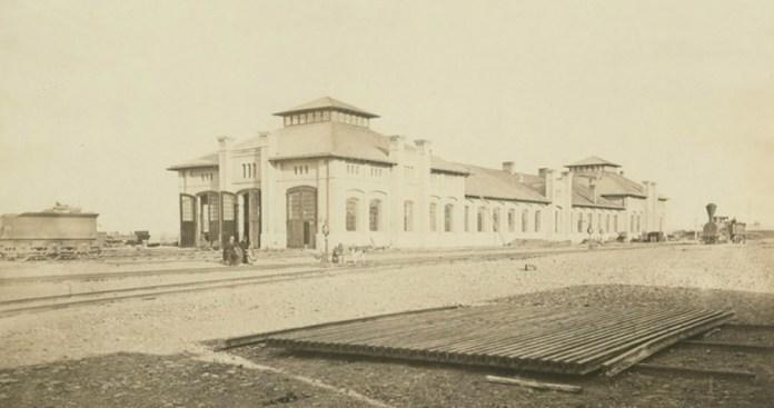 Паровозне депо у Станіславові. 1880-ті рр.