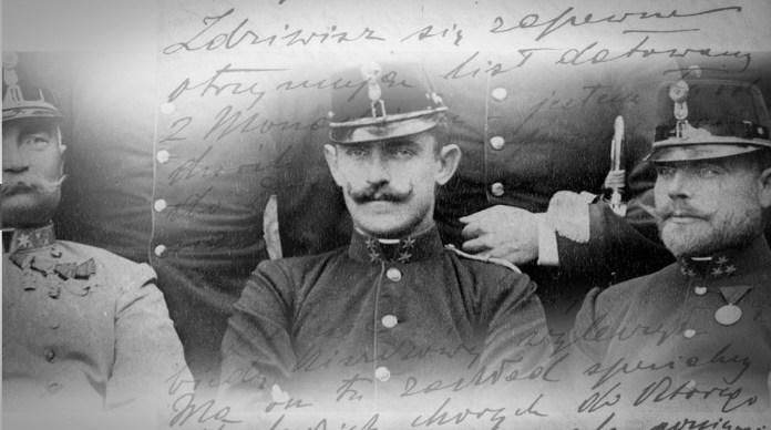 Поручник Станіслав граф Шептицький серед офіцерів айстро-угорської армії