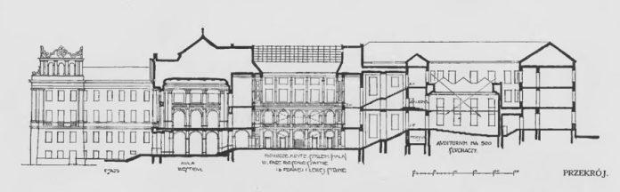 І проект нової будівлі львівського університету Тадеуша Обмінського, 1913
