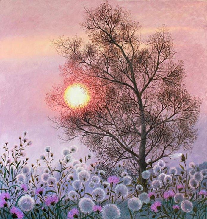 Експозиція виставки Ольги Кваші «Друзі мої, дерева»