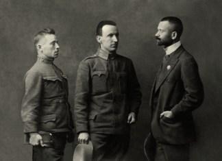 Іван Боберський (перший справа). Відень, 1915 р. Збірка світлин УСС з Бродівського історико-краєзнавчого музею.