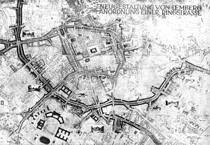 Розпланування південно-західної частини передмістя, 1943