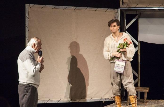 Євген Федорченко та Євген Нищук на сцені Театру імені Марії Заньковецької