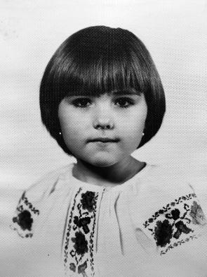 Софія Федина в дитинстві