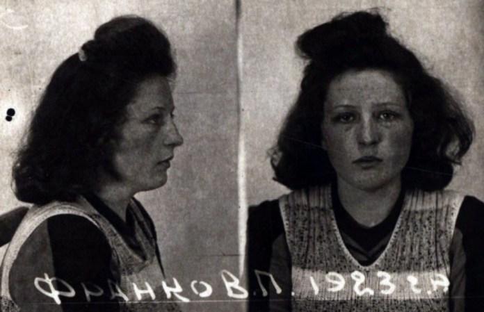 Фото з кримінальної справи Віри Франко. Знімок з виставки «Тріумф людини. Мешканці України, які пройшли нацистські концтабори»