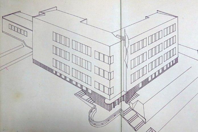 Фасад школи імені королеви Ядвіги проекту Анни Барановської