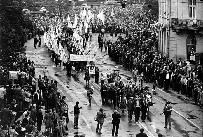 Хода за легалізацію УГКЦ 17вересня 1989 року у Львові. Фото з ресурсу https://zbruc.eu