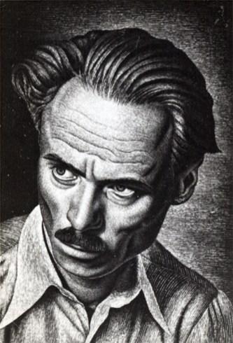 Іван Кейван. Автопортрет з нахиленою головою, 1946