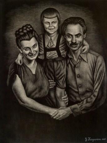 Іван Кейван. Моя родина. Міттенвальд, 1947