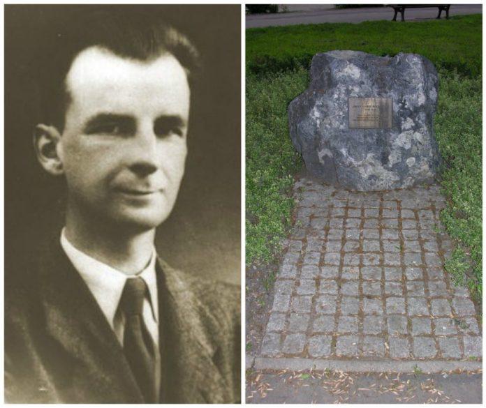 Адольф Марія Бохенський і його меморіальний камінь у Вроцлаві. Фото з https://uk.wikipedia.org