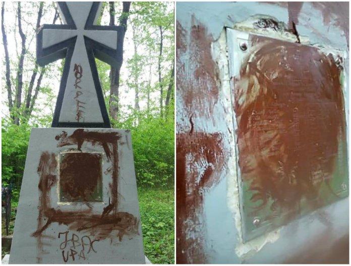 Сплюндрований хрест у Фредрополі. Фото: nasze-slowo.pl