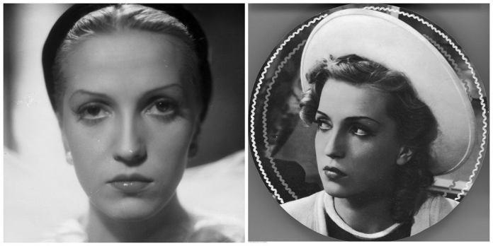 Тамара Вишневська в ролі (ліворуч) і в житті