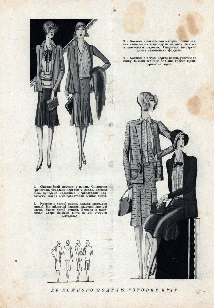 Модні фасони літа 1929 року
