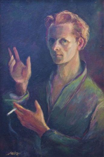 Мирон Левицький.Автопортрет, 1947 року