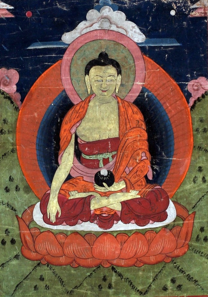 Будда Шак'ямуні Бурятія, XIX-поч. XX ст. полотно
