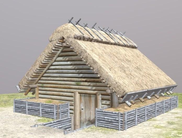 Реконструкція заглибленого слов'янського житла ІХ-Х ст.