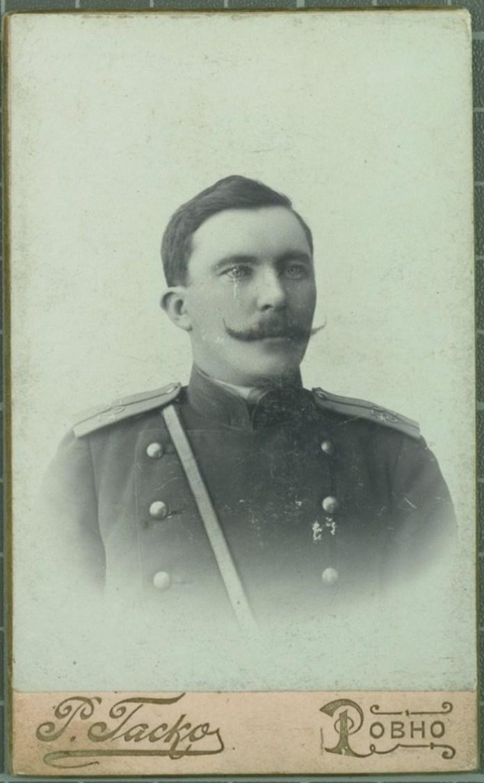 Офіцер Рівненського гарнізону, 1901 рік, ательє Гаско