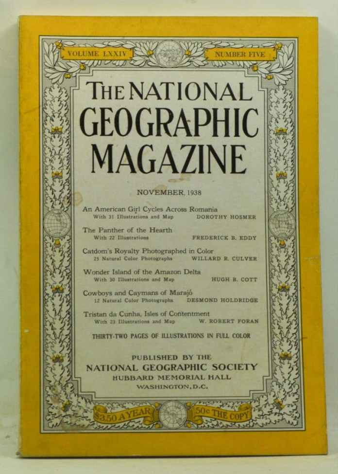 Титул National Geographical Magazine за жовтень 1938 р.