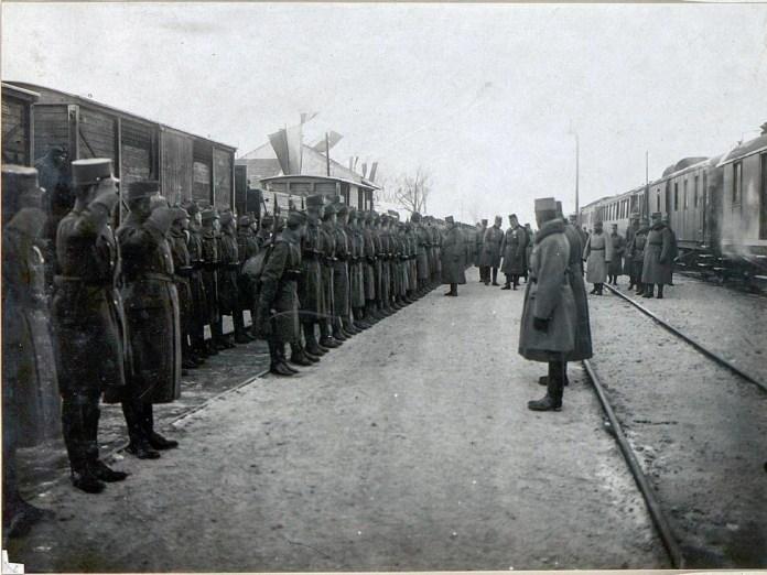 Карл І в селі Ожидів 9 грудня 1917 року
