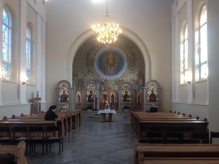 Теперішній інтер'єр храму Співстраждання Богородиці у Перемишлі. Фото Ігоря Скленара