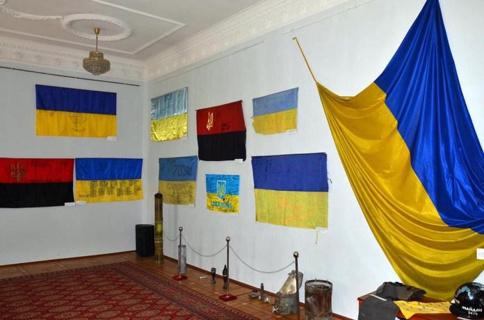 Відкриття виставки сучасної історії українських прапорів у Збройних Силах України