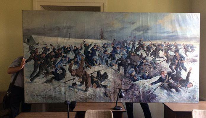 Картина Олександра Климко «Бій під Крутами». Фото: Facebook.