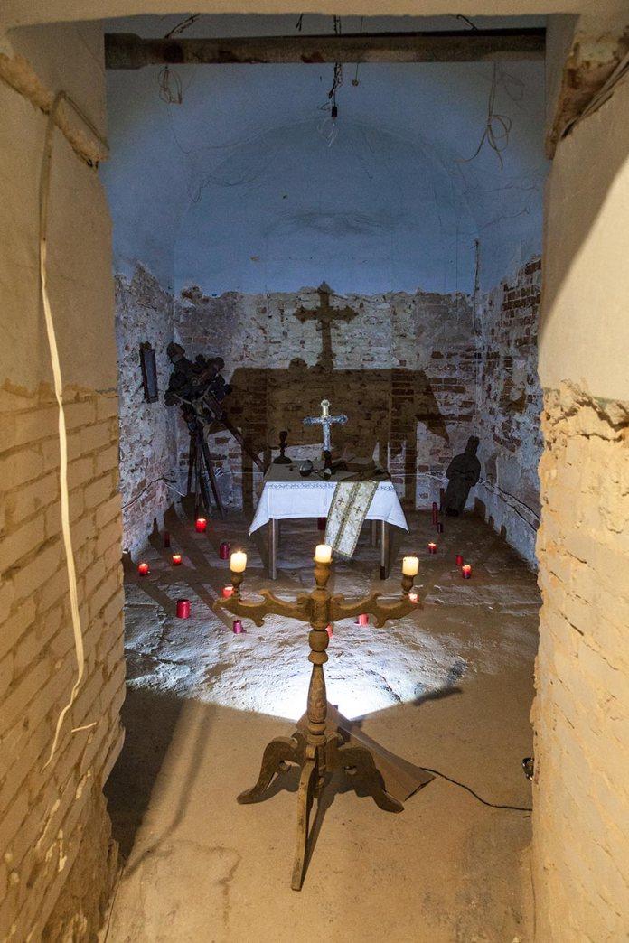 Експозиція виставки «Історія нескореної церкви» у Музеї Митрополита Андрея Шептицького